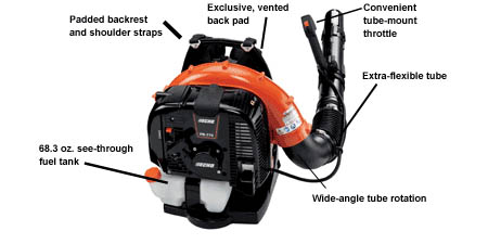 backpack leaf blower echo
