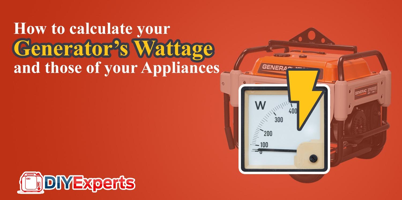 Generator Wattage Calculator Diy Experts